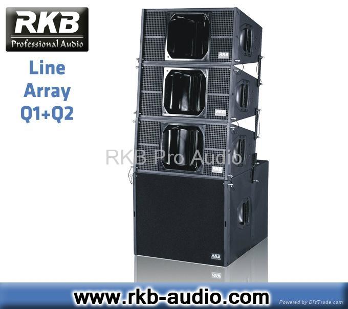 Q1 Q2 Pro Audio Dual 10 Quot Professional Line Array Speaker