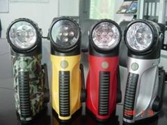 led充電手搖雙用戶外野營電筒