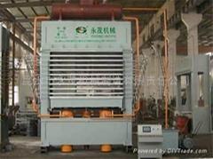Melamine laminating hot press for Multilayer panel