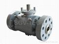 Ball valve flange ends splite/3pcs body