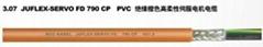PVC绝缘橙色高柔性伺服电机电缆