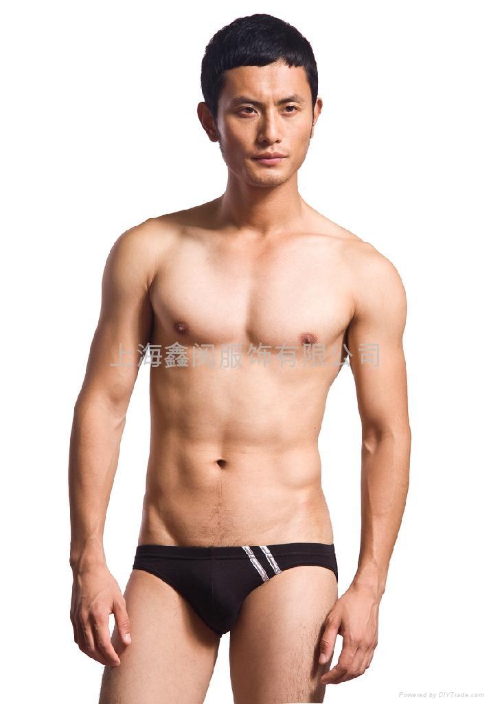男士低腰杠杠三角裤 1