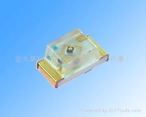 供应0603黄绿贴片LED发光二极管 1