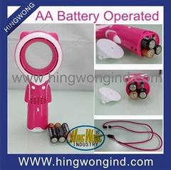 3XAA battery operated mini portable bladeless fan