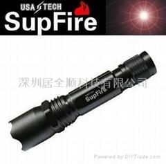 供應強光手電筒supfire M8 鋁合金手電