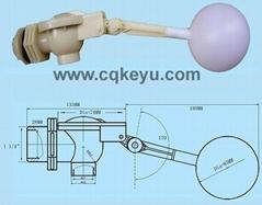 塑料浮球阀门一寸牙