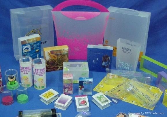 PVC透明化妝品彩色塑料盒 1