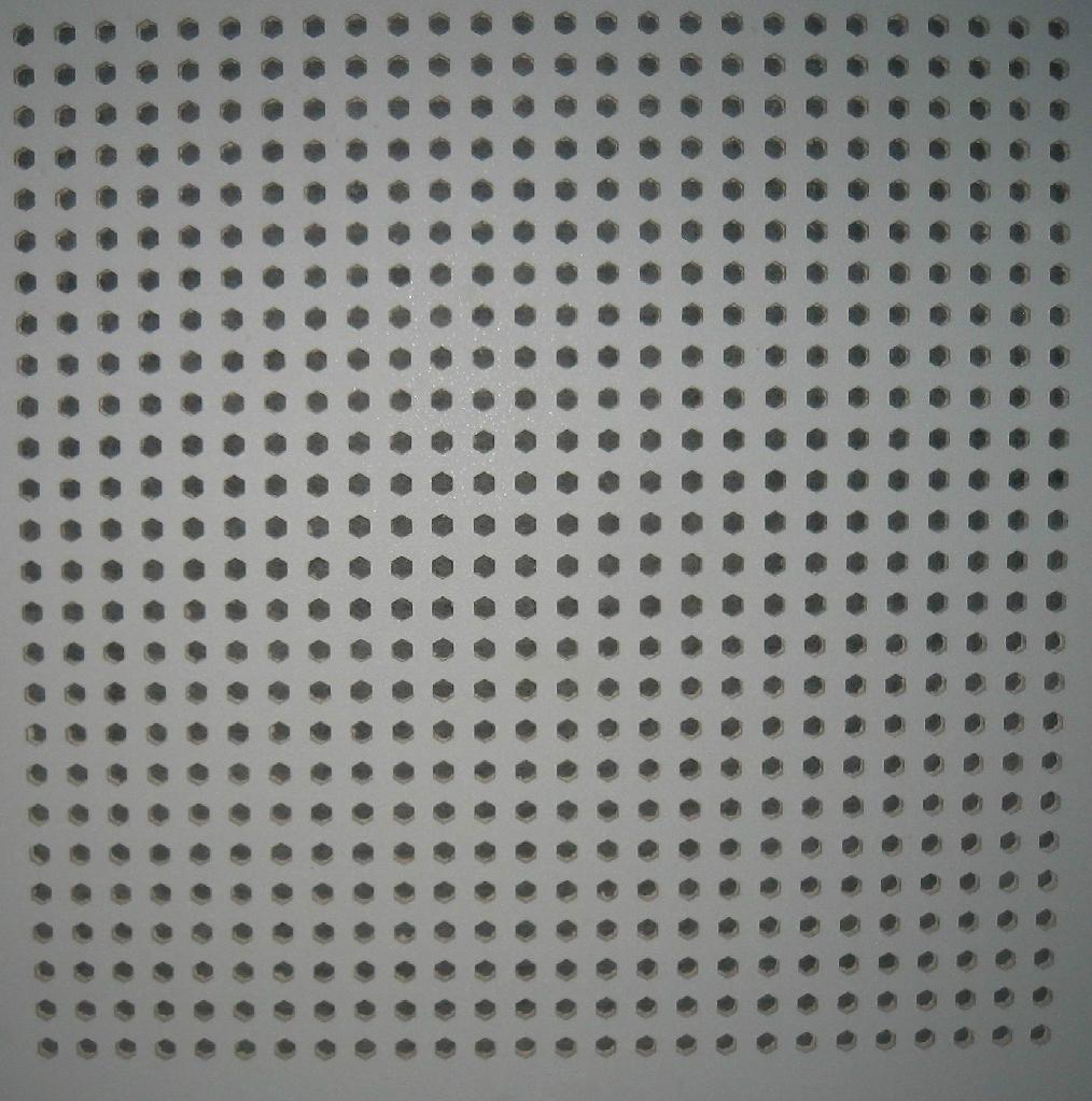 Sound Absorption Gypsum Ceiling Tiles 595595603603 Zhongyong
