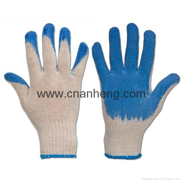 Latex coated cotton gloves 5