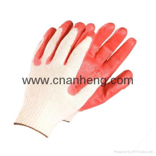 Latex coated cotton gloves 4