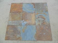 锈色板岩大板