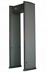 Metal detector security doors