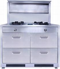 freestanding integrated burner machine