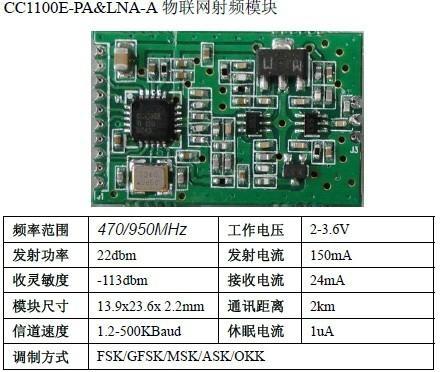 CC1100E+PA无线模块 1