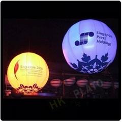 advertising inflatable LED light helium balloon