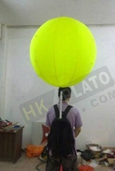 inflatable LED light backpack balloon with logo printing