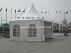 aluminum white pagoda tent