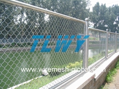 high quality galvanized pvc coated chain link wire mesh