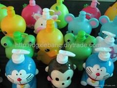 PP plastic cartoon shampoo bottles