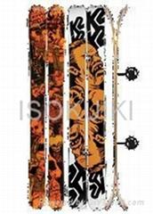 HellBent Skis whit biding's