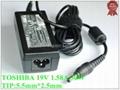 Universal TOSHIBA Netbook Adapter PA3743E-1AC3 19V 1.58A 30W Laptop AC Adapter N