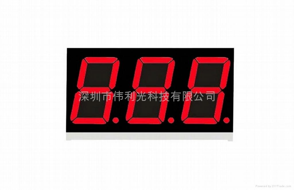 0.36''Triple Digita 7-segment LED Display with  Common Anode 1