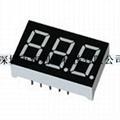 0.36''Triple Digita 7-segment LED Display with  Common Anode 3
