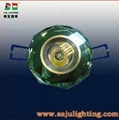1*3W LED downlight with cristal material