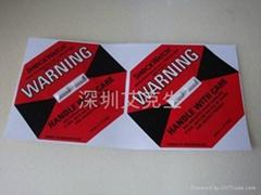 美國進口 防震動標籤紅色 50G