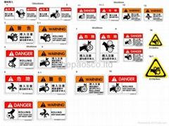Rolling safetylabel
