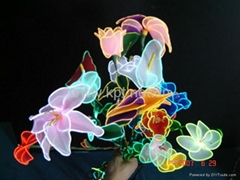 EL發光絲襪花製作材料