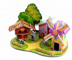 3D立体纸质拼图拼板玩具模型
