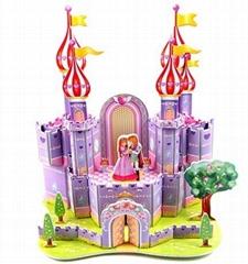 紫色城堡3D立体拼图