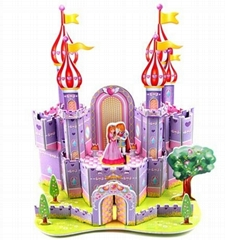 Purple castle 3D puzzle