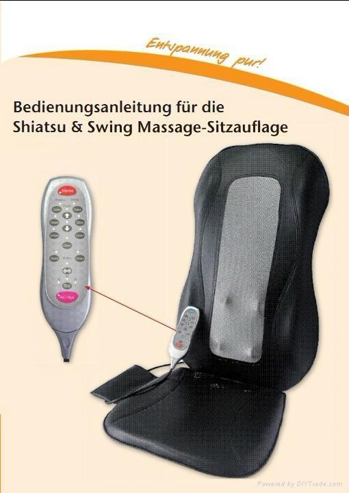shiatsu and swing massage cushion with heat Ergonomic design 3