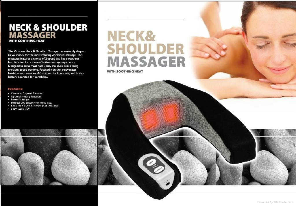 Neck & Shoulder massager with heat Neck pain reliever  2