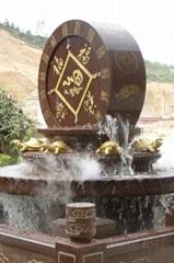最美石雕小橋流水景觀噴泉