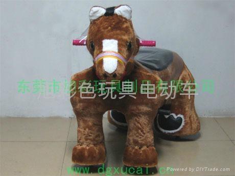毛绒玩具电动车 4