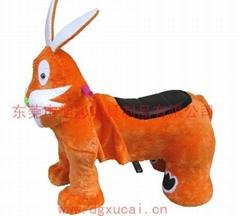 儿童新款毛绒玩具电动车
