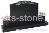 Black granite grave stone