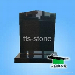 shanxi black granite headstone