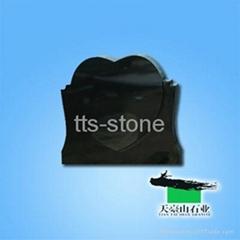 shanxi black granite headstone