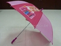 straight/stick child cartoon heat transfer umbrella