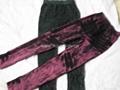 2012時尚磨砂仿牛仔印花拉毛打底褲 2