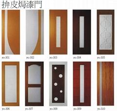 防火門可做款式之  拚皮焗漆門