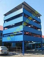 五層昇降橫移式立體車庫