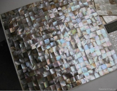 Square Brown sea mosaic tiles for interior decoration