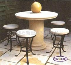 北京特石花园家居石桌