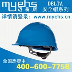 代爾塔102011抗紫外線高密度聚乙烯PE安全帽