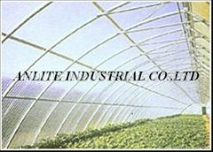 Fiberglass corrugated sheet for greenhouse